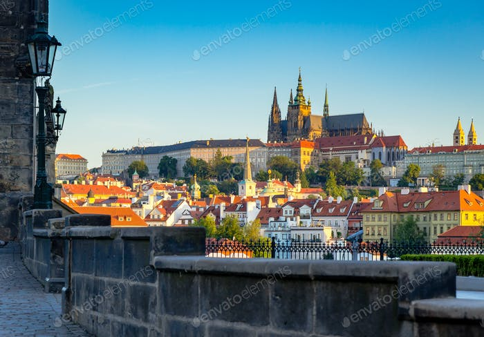 Prague castle on morning