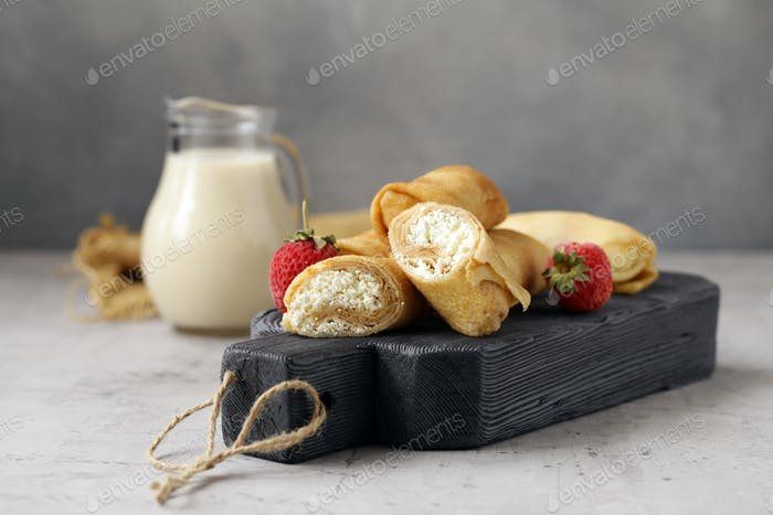 Homemade Pancakes with Cottage Cheese