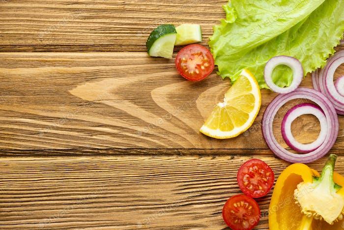 Frische gesunde Kochzutaten