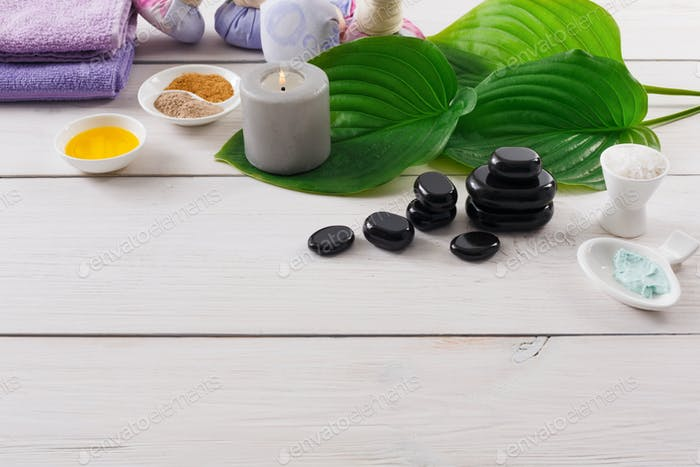 Spa treatment.Aromatherapy.Essential Oil.