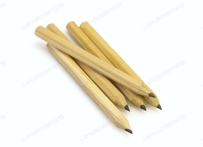 Yellow Plain Pencils On White Background