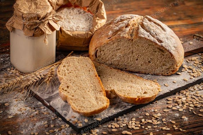 Concepto de pan casero