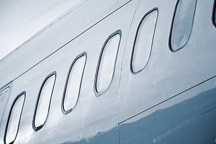 Fenster des Flugzeugs