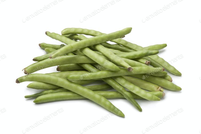 Fresh raw green beans