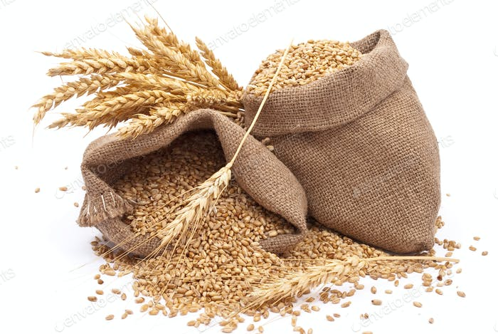 Säcke von Weizenkörnern