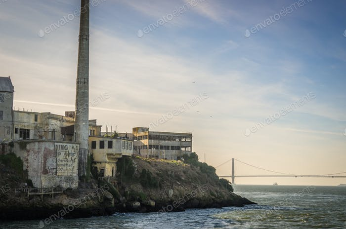 The island of Alcatraz,San Francisco