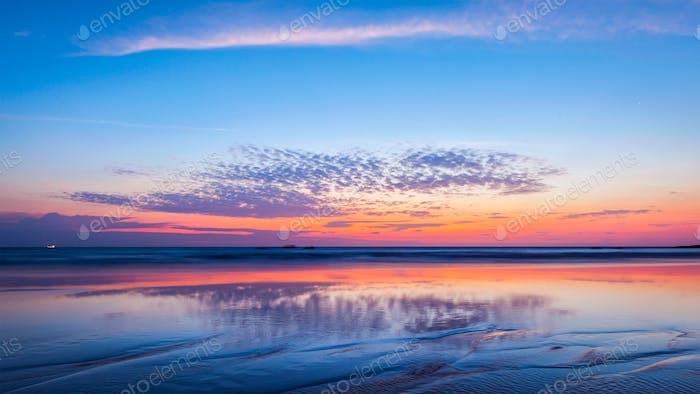Sunset on beach. Goa