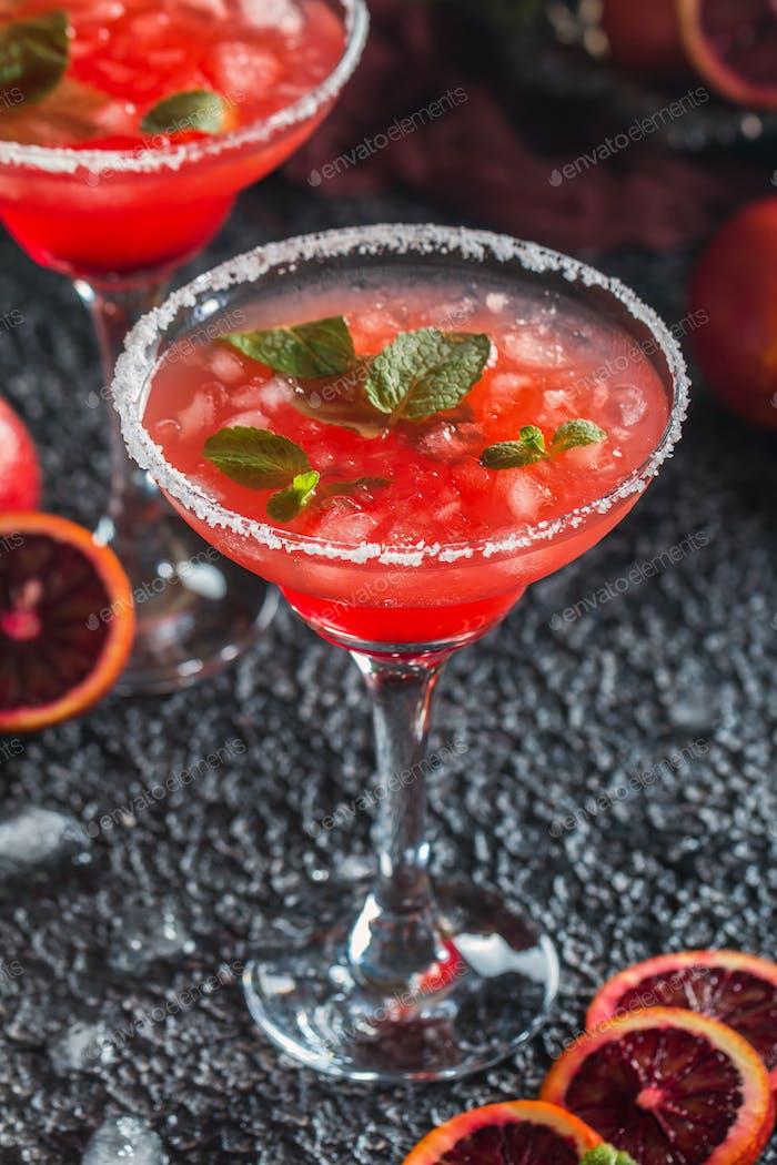 Blood Orange Margarita cocktail
