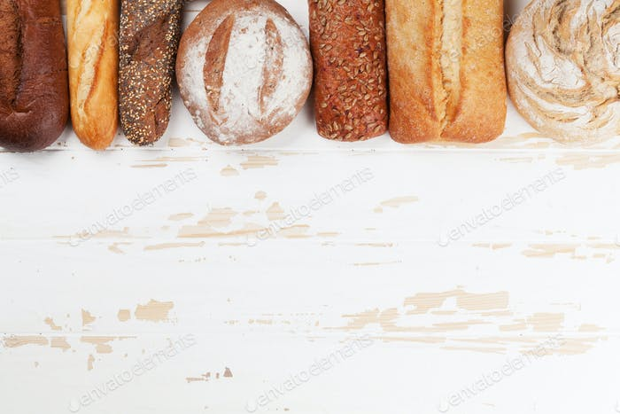 Thumbnail for Various crusty bread and buns