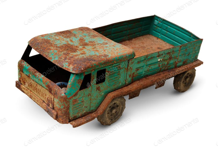 Old tin toy, generic auto truck