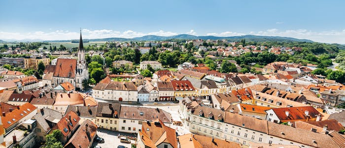 Panoramic view of Melk located in lower Austria
