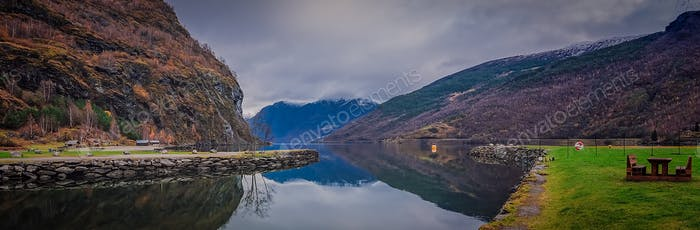 Stunning scenery of norwegian fiord