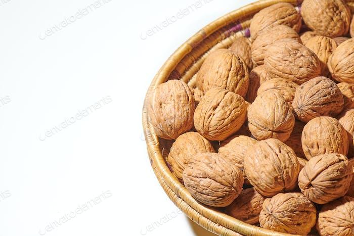 Walnuts in a baske