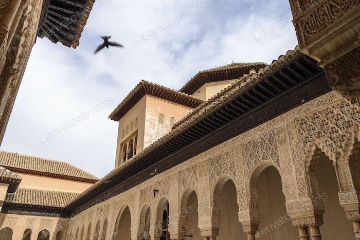 Außenansicht, Alhambra Palast, Granada, Andalusien, Spanien.
