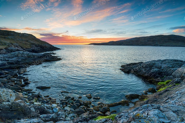 Sunset from Hushinish on the Isle of Harris
