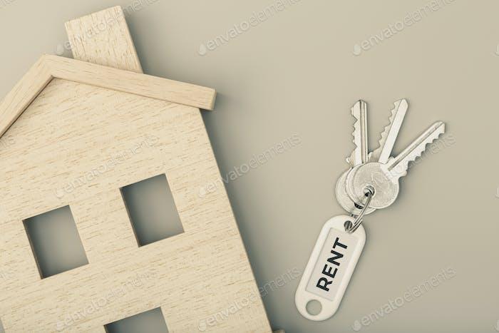 Mieten Sie ein Haus Konzept