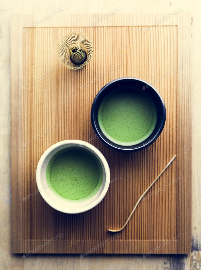 Japanese oriental matcha ceremony tradition