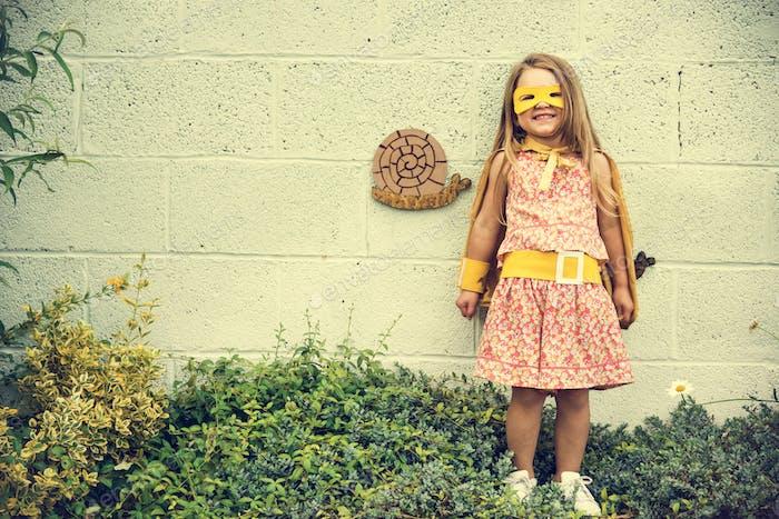 Superhero Baby Girl Brave Adorable Konzept