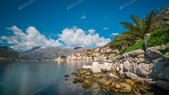 View of the Perast town