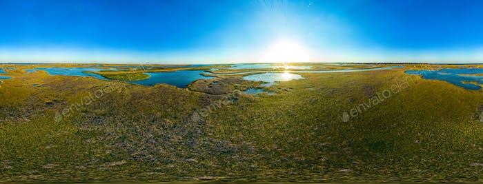 Virtual reality 360 degrees panorama of sky