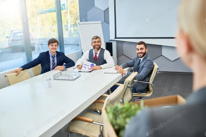 Job Interview in Business Company