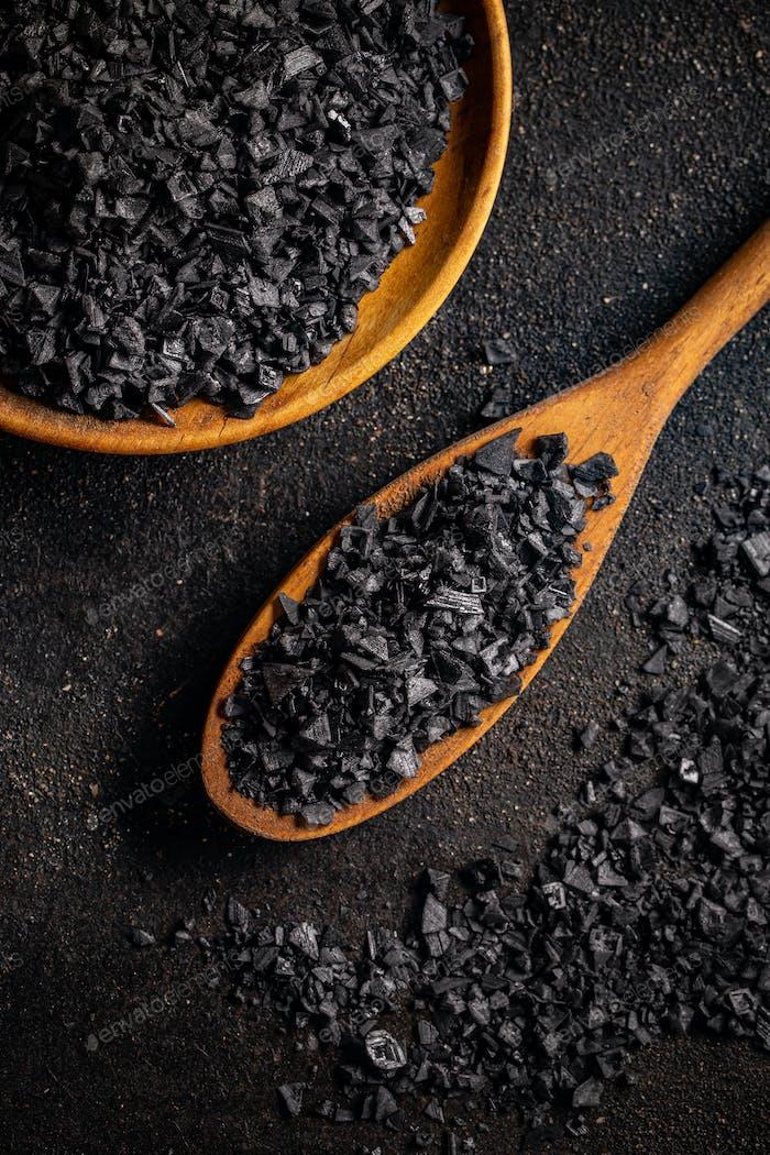 Gourmet black Hawaii salt