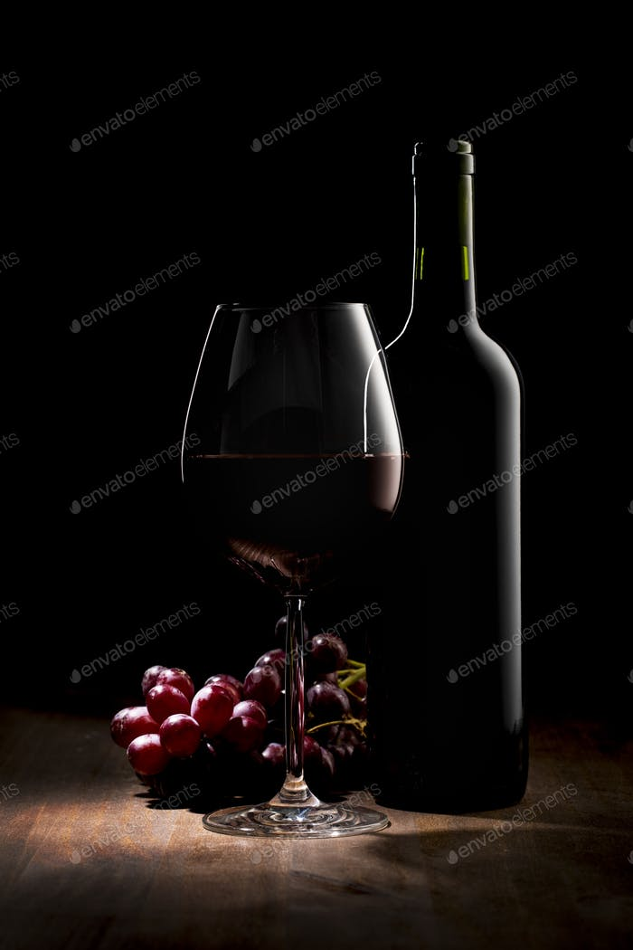 Luxury Red Wine No Label