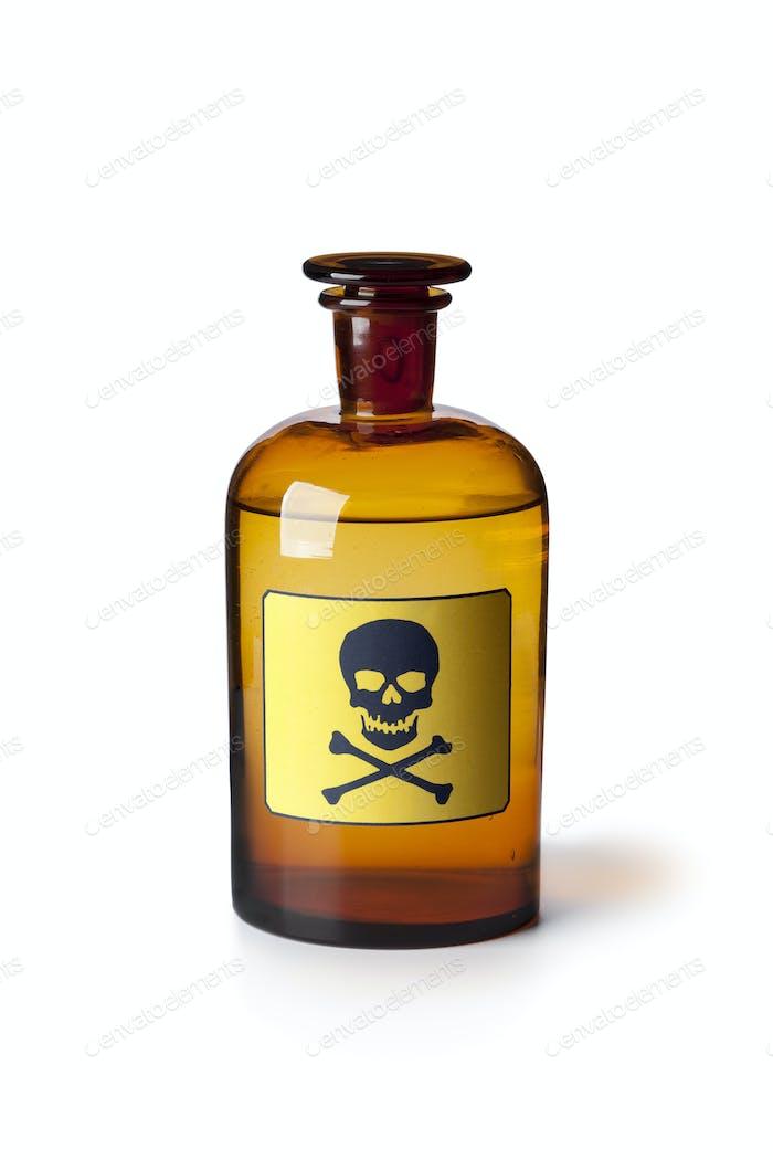 Medizinflasche mit giftiger Flüssigkeit
