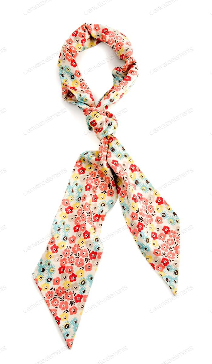 Flowery white neckerchief