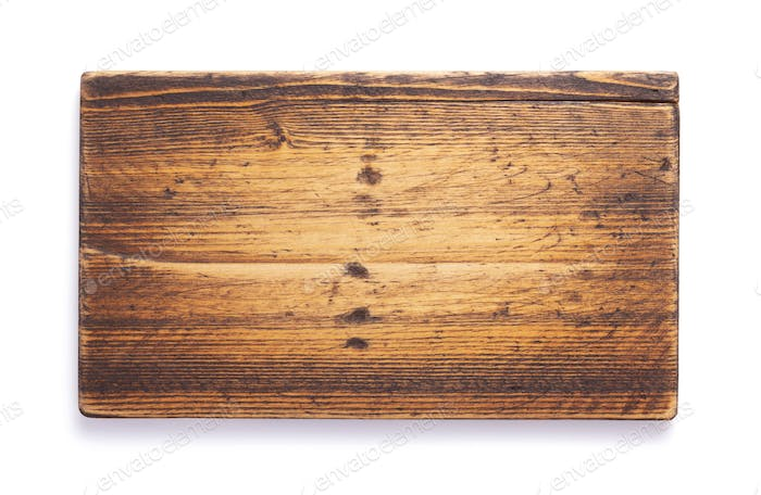 wooden nameplate at isolated on white background