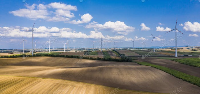 Countryside and Wind Turbines