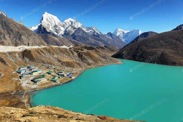 Views from Gokyo Ri, Sagarmatha national park, Khumbu valley, Nepal