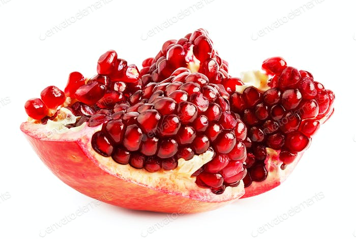 Cut ripe juicy pomegranate