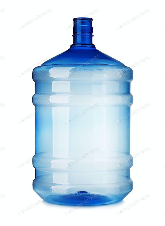 Big plastic bottle close-up isolated on a white background.