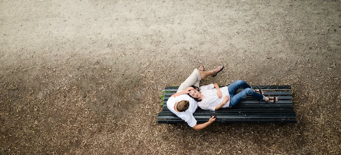 couple recreating in the park