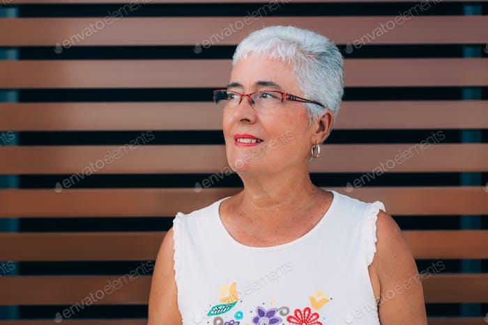 Portrait of a elderly woman