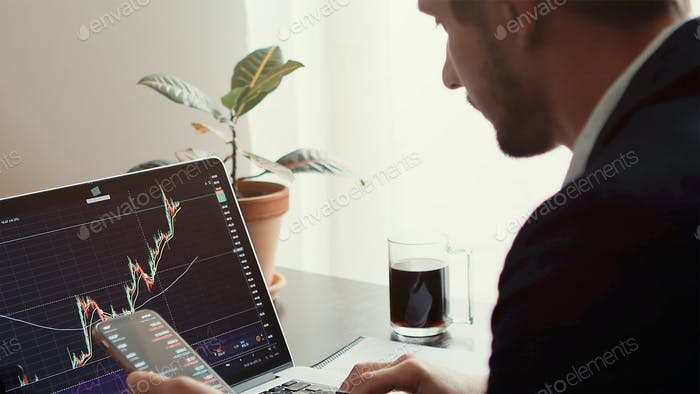 Stock trading graph price prediction and profit gain