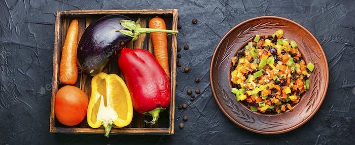 Ragout vegetal apetitoso