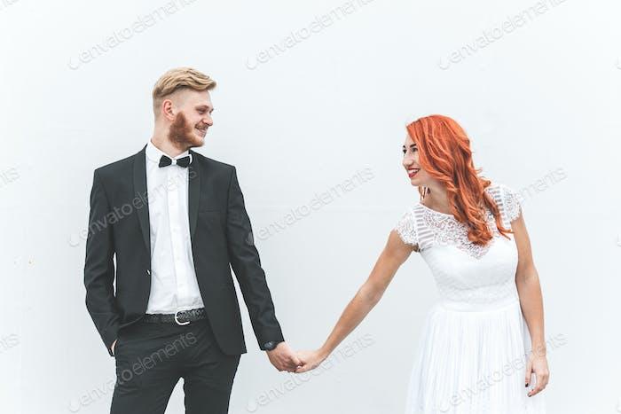 beautiful couple posing