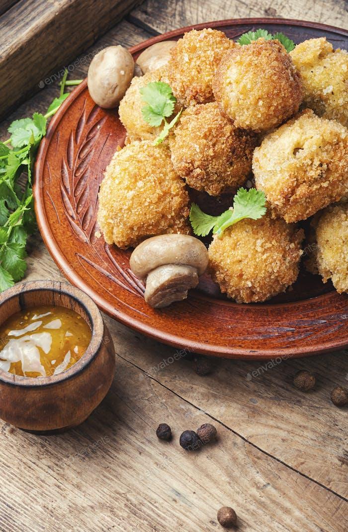 Thumbnail for Champignon mushrooms deep-fried