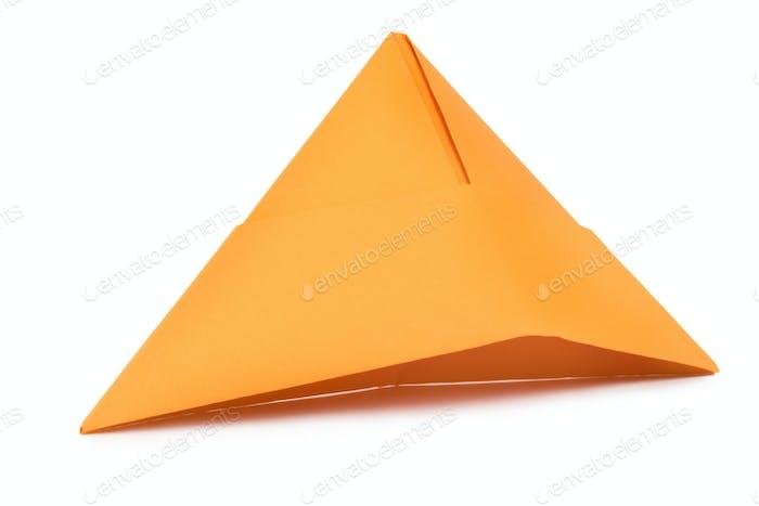 Orange paper hat
