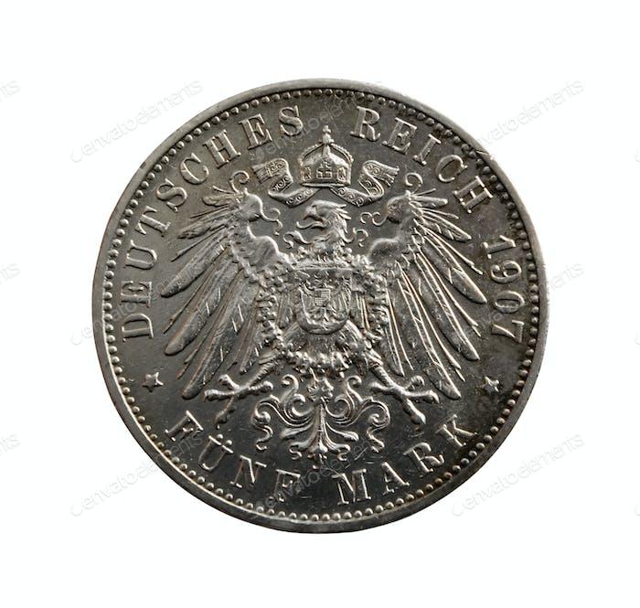 Old 5 German marks