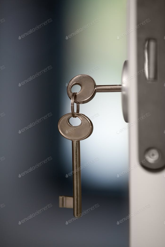 Keys in the door lock