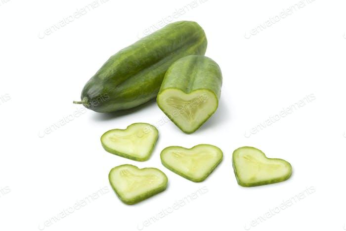 Hear tshaped cucumber