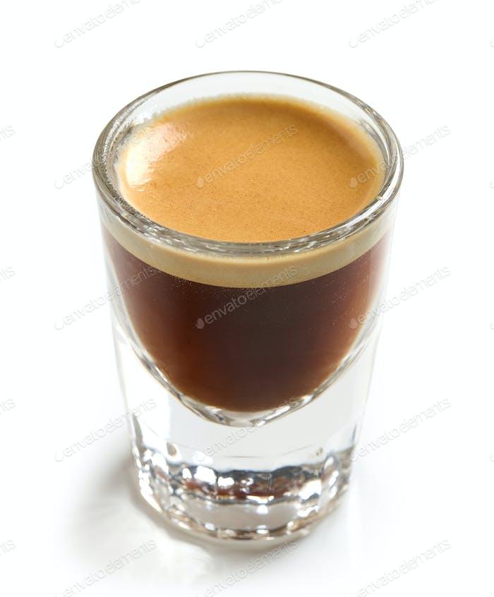 Glas frischen Espresso Kaffee
