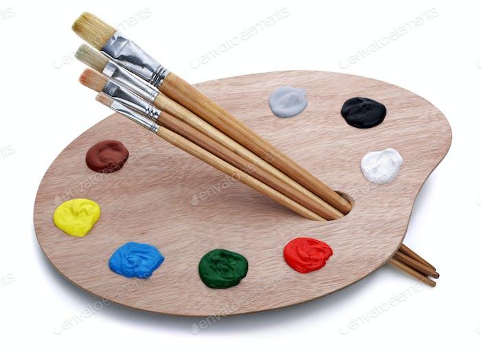 Künstler-Palette mit Pinsel