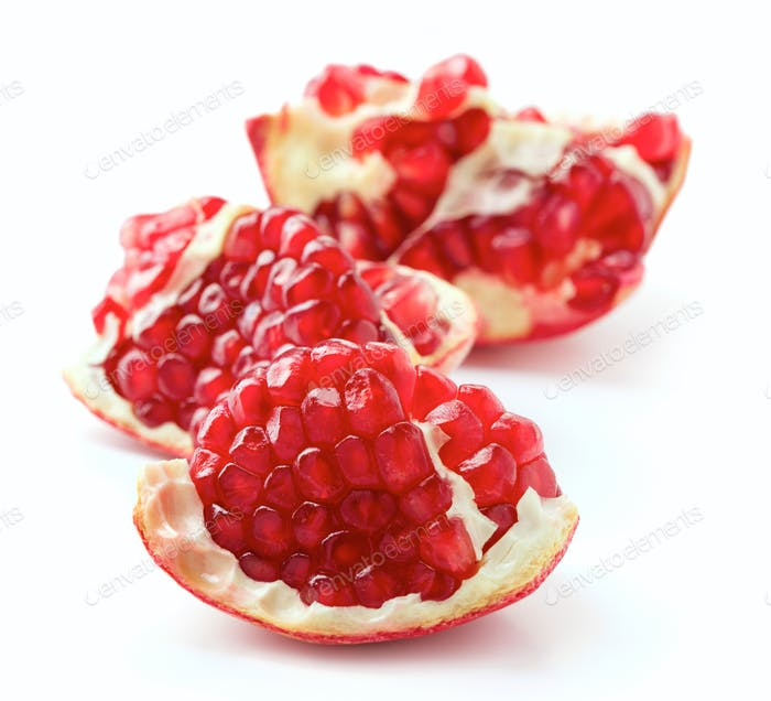 Pieces of ripe pomegranate