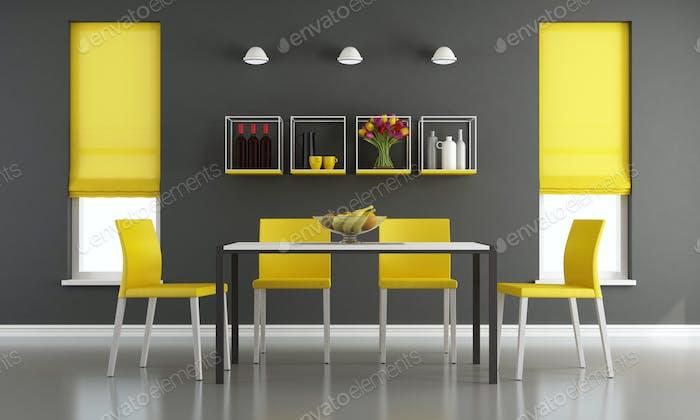 Schwarz und gelb Wohnzimmer