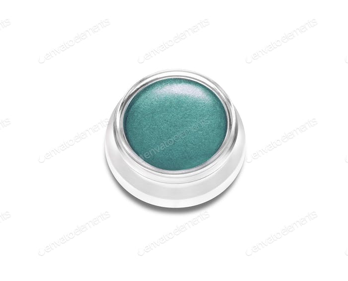 Beauty cosmetics eye shadow isolated on white