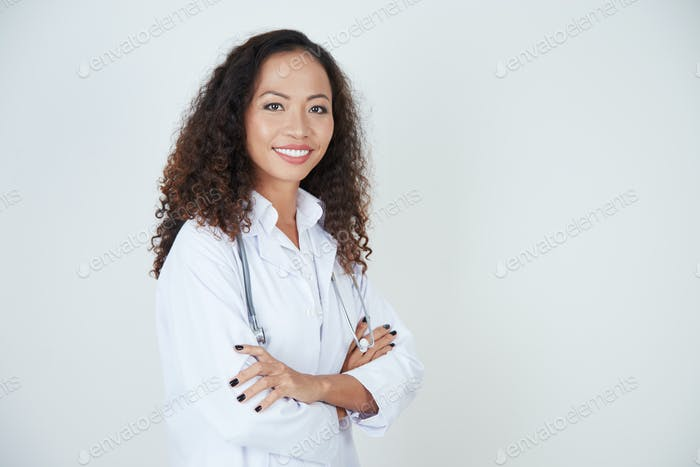 Confident doctor in uniform